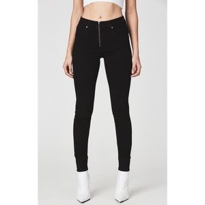 JUPITER HIGH RISE BLACK SKINNY JEAN WITH ZIP FRONT